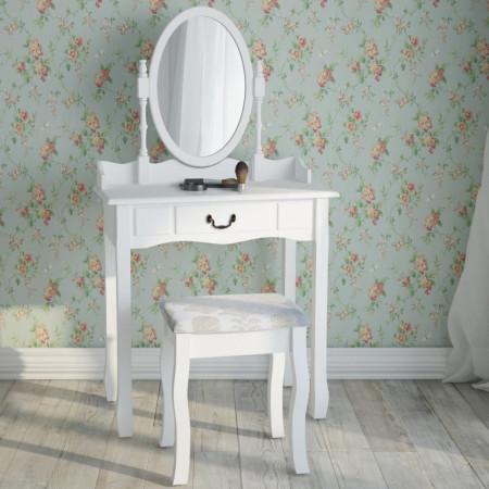 SEA21 - Set Masa alba toaleta cosmetica machiaj oglinda masuta vanity