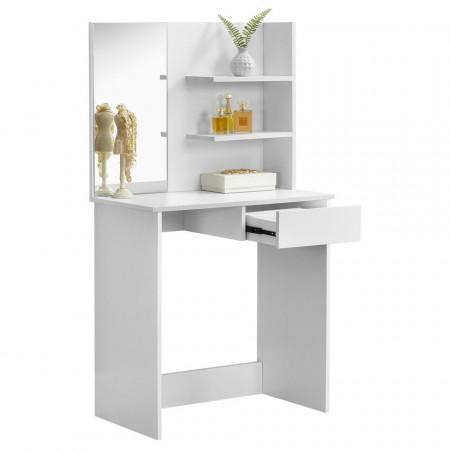 SEA263 - Set Masa alba toaleta 75 cm cosmetica machiaj oglinda masuta vanity