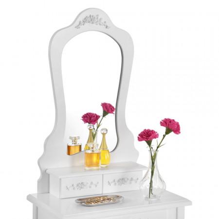 SEA318 - Set Masa alba toaleta cosmetica machiaj oglinda masuta vanity