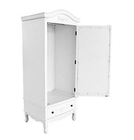 DUA52 - Dulap Sifonier dormitor cu 1 sertar si oglinda - Alb