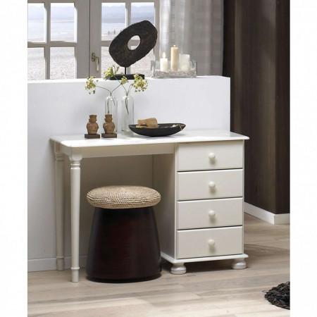 MAA105 - Masa alba toaleta cosmetica machiaj masuta vanity, birou cu 4 sertare