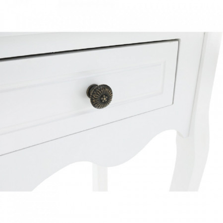 MAA601 - Masa toaleta, 75 cm, consola cosmetica machiaj masuta vanity make-up cu raft pentru hol - Alb