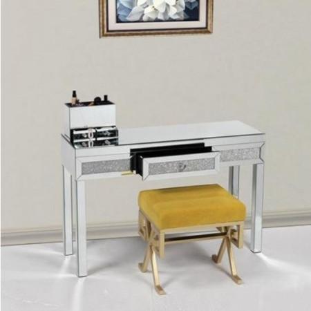 MAOG103 - Set Masa Argintie toaleta, 120 cm, cosmetica machiaj oglinda masuta
