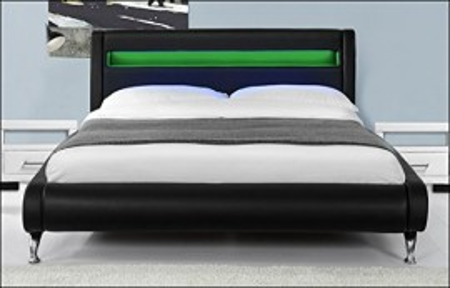 NOA14 - Set 2 Noptiere albe capitonate cu 1 sertar pentru dormitor - Piele ecologica