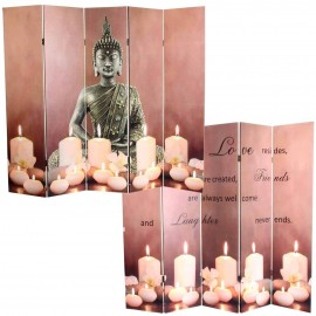 PAR9 - Paravan despartitor imprimat - ambele parti, Buddha - 3/5 Panouri cu LED