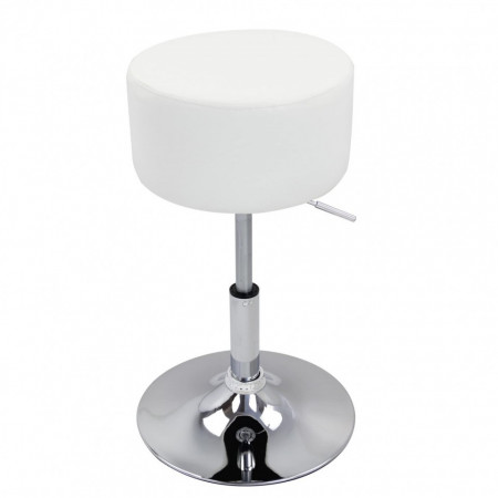SCA206 - Scaun tapitat diverse culori pentru masa toaleta, birou, bar, imitatie de piele, inaltime reglabila