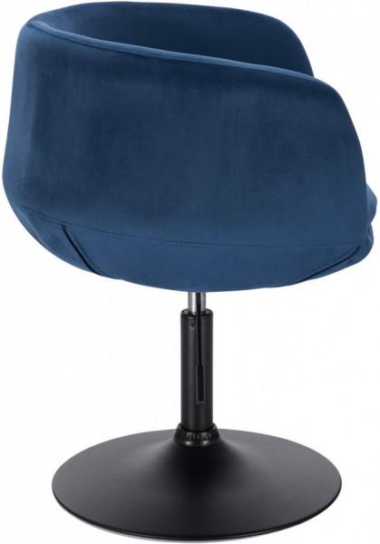 SCA217 - Scaun tapitat Albastru catifelat pentru masa toaleta, birou, bar, lounge, inaltime reglabila