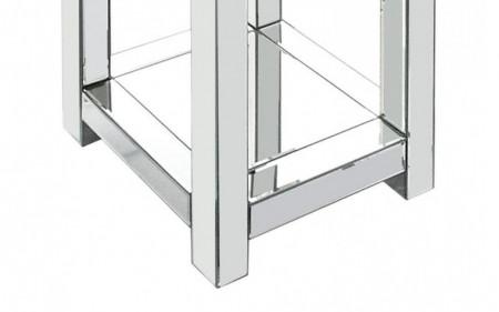 SCOG103 - Scaun oglinda, taburet masuta masa toaleta cu raft - Argintiu