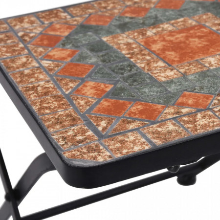 SEGM7 - Set Masa si scaune pliante Mozaic gradina, terasa, balcon - Maro