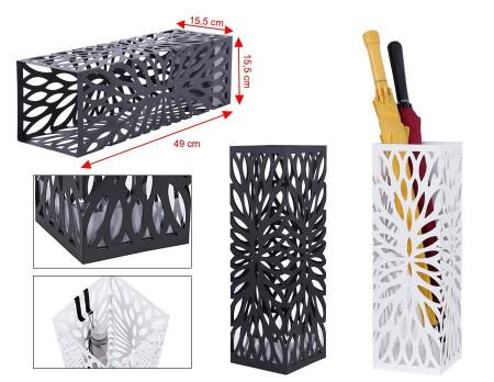 SUN202 - Suport depozitare umbrela patrat, baston pentru hol, metal - Negru