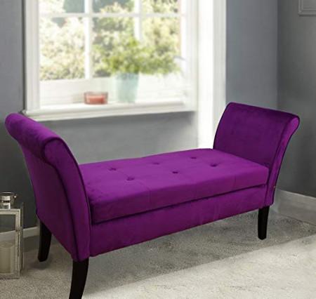 BAN111 - Bancuta, Canapea, fotoliu, sofa, bancheta, banca living, dormitor, hol, lada depozitare - Mov sau Mink