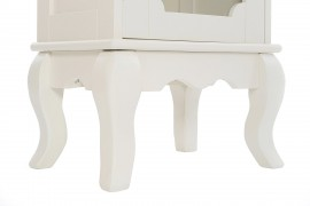 DUC101- Dulap, vitrina rafturi, living, baie, dining - Crem / Ivory