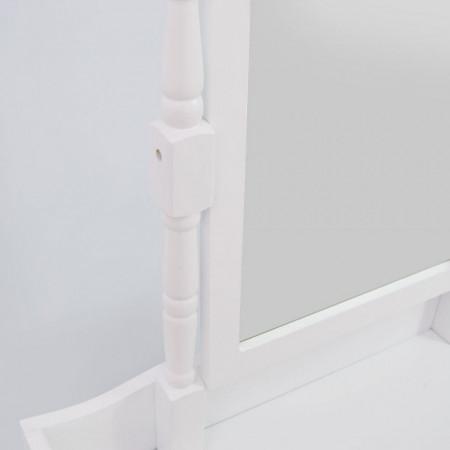 SEA132 - Set Masa toaleta cosmetica machiaj oglinda masuta - Alb