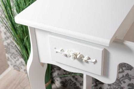 SEA284 - Set Masa toaleta, 87.5 cm, cosmetica machiaj cu oglinda, masuta vanity, scaun tapitat- Aba