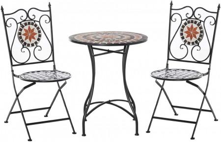 SEGM215 - Set Masa si scaune pliante Mozaic gradina, terasa, balcon