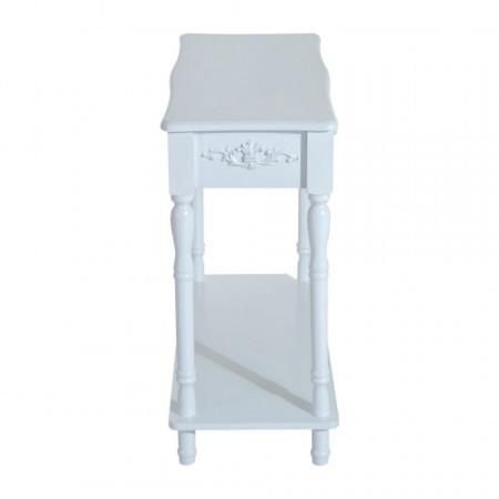 MAA208 - Masa alba toaleta consola cosmetica machiaj masuta vanity make-up cu raft pentru hol