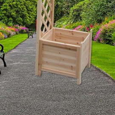 PEM4 - Pergola, jardiniere trandafiri lemn gradina, terasa - Maro