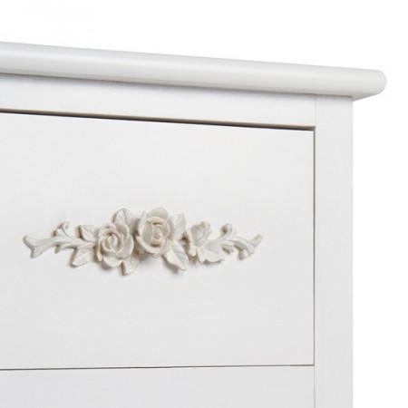 RAA2 - Rafturi albe - sertar si 2 cosuri model trandafiri