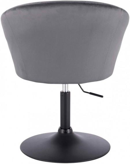 SCA224 - Scaun tapitat pentru masa toaleta, birou, bar, catifea, inaltime reglabila - Gri