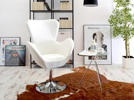 SCA501 - Scaun masuta toaleta machiaj cosmetica, fotoliu modern - Piele ecologica - Alb/Nergu/Gri