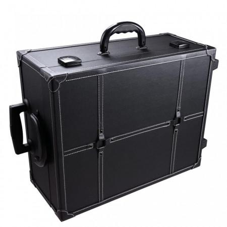 STN102 - Statie Makeup portabila, troler, organizator, portfard, geanta, valiza, oglinda cu lumini