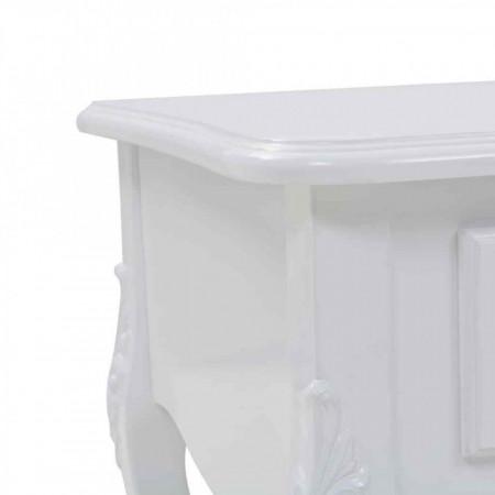 MAA33 - Masa, masuta de cafea 100 cm, cu 2 sertare, pentru living - Alb