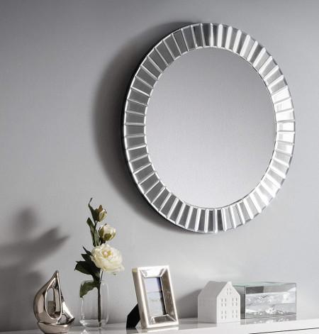 OGG115 - Oglinda 60 cm, pentru perete ornamentala dormitor, living, baie - Argintie