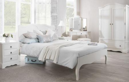PAA105 - Pat Dublu Alb dormitor, diverse marimi