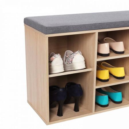 BAM101 - Banca, suport pantofi pentru Hol - Maro