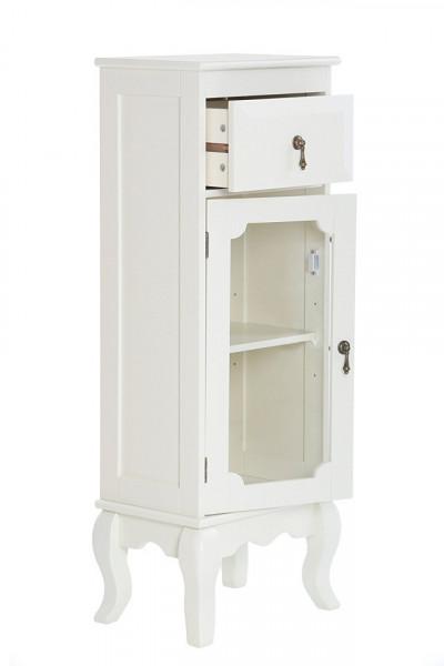 DUC103 - Dulap, vitrina rafturi, living, baie, dining - Crem / Ivory