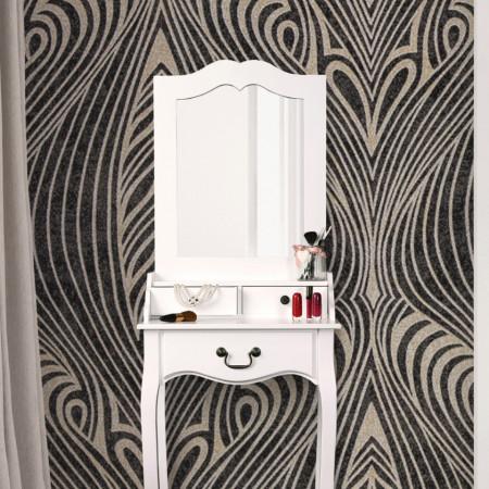 SEA12 - Set Masa toaleta, 50 cm, consola cosmetica machiaj masuta vanity make-up cu oglinda - Alb