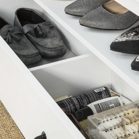 BAA13 - Banca, bancuta pentru Hol, depozitare pantofi - Alba