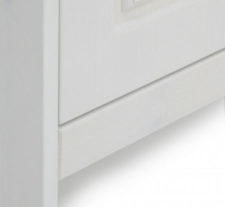 BAA216 - Banca 60 cm pentru Hol, pantofi, depozitare - Alba