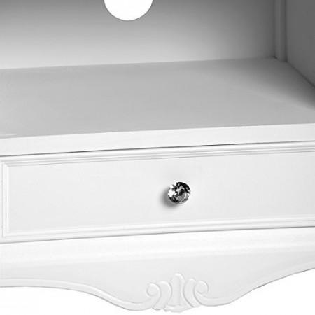 COA107 - Comoda TV, dulap cu 1 sertar, dormitor, living - Alb