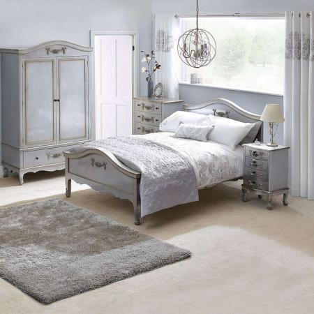 DUG101 - Dulap Sifonier dormitor cu 1 sertar - Argintiu