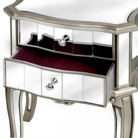 NOOG102 - Noptiera, dulap cu 3 sertare, dormitor - Argintiu