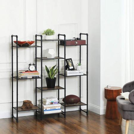 RAI213 - Rafturi birou 39.5 cm, stil industrial pentru bucatarie, baie, office, living, hol - Maro