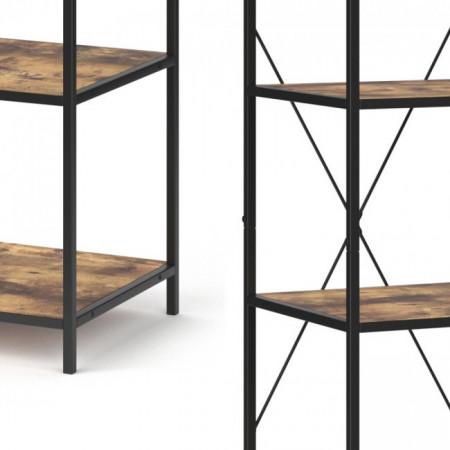 RAI217 - Rafturi birou 40 cm, stil industrial pentru bucatarie, baie, office, living, hol - Maro