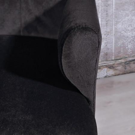 SCN7 - Scaun masuta toaleta machiaj cosmetica, fotoliu, scaunel, divan - tapitat negru