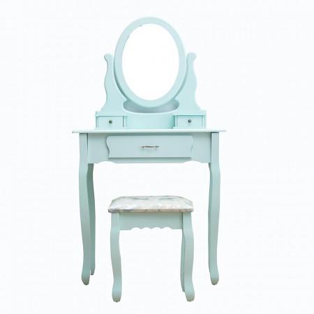 SEAL101 - Set Masa toaleta cosmetica machiaj oglinda masuta vanity - Ou de rata