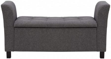 BAG105 - Divan, Canapea, fotoliu, sofa, bancheta, bancuta cu lada, banca living, dormitor, hol - Gri