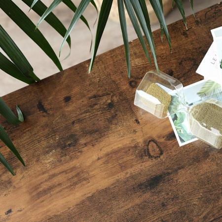 BAI202 - Banca industriala 80 cm, pentru Hol, pantofi, patofar, bancuta depozitare - Maro