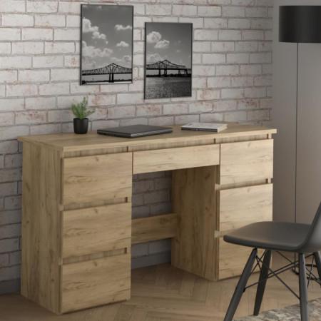 BIM502 - Masa de Birou 120 cm, pentru office - Culoarea Stejar