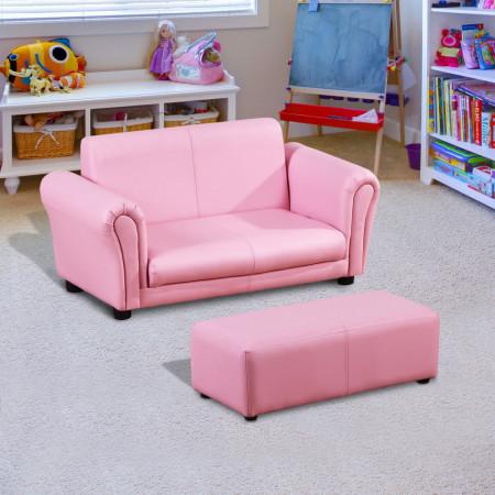 CARC201 - Mini canapea, divan Copii - Roz sau Negru
