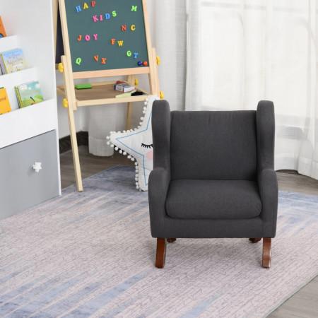 SCGC201 - Mini fotoliu, 45 cm, scaun, scaunel pentru copii - Gri