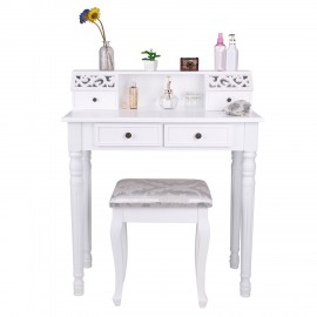 SEA7 - Masuta alba de toaleta cu Scaun, cosmetica, masa vanity machiaj