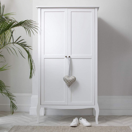 DUA124 - Dulap alb, sifonier, dressing pentru dormitor - Lisabona