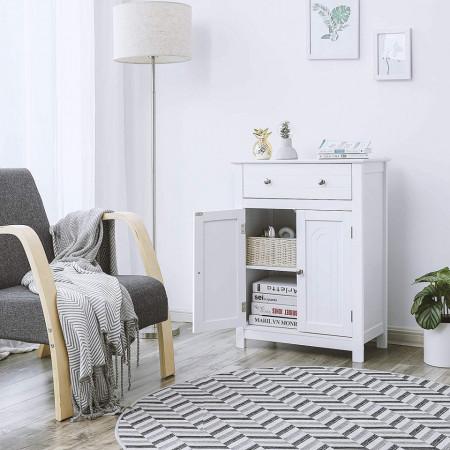 LOTUS1 - Dulap alb, comoda pentru prosoape - Mobilier Baie Lotus