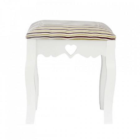 SCA601 - Scaunel tapitat, scaun, taburet masuta, masa toaleta, mahiaj - Alb