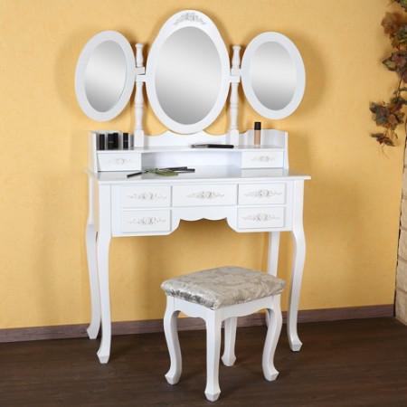 SEA10 - Set Masa alba toaleta cosmetica machiaj oglinda masuta vanity